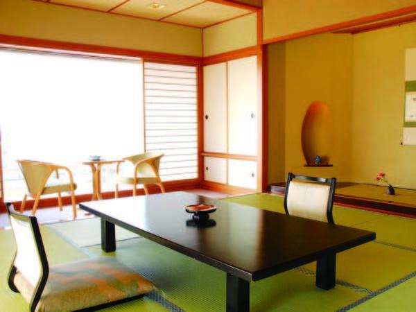 【新館湖側10~12畳/例】諏訪湖眺望!純和風客室