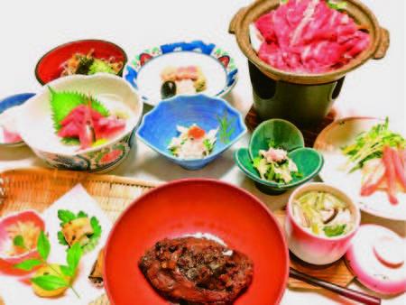 【夕食/例】信州産牛の陶板焼き、鯉の旨煮、甘鯛のかぶら蒸し等全9品
