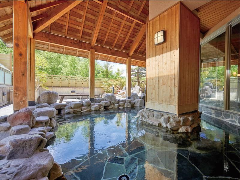 【スパリゾート鹿山の湯】自然を感じながら湯浴み