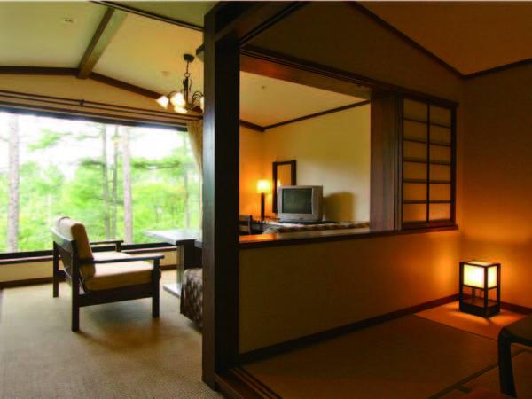 【和洋室(45㎡)/例】シングルベッド1台に布団2組のお部屋