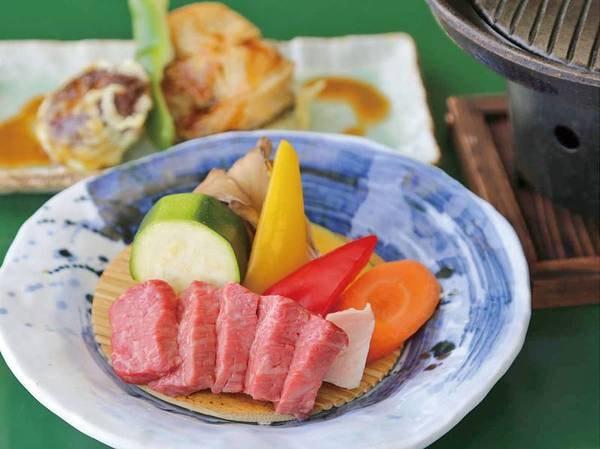 【信州牛鉄板焼付プラン/例】信州の味覚をふんだんに取り入れた和食中心の会席風料理に信州牛(約80g)を追加