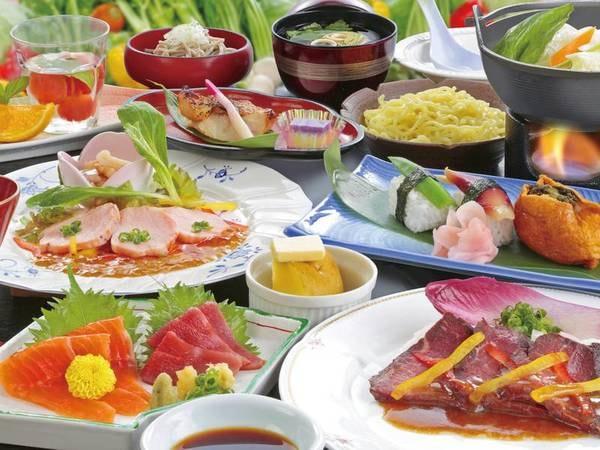 【夕食/会席の例】信州の旬の食材を使用した料理は全13品