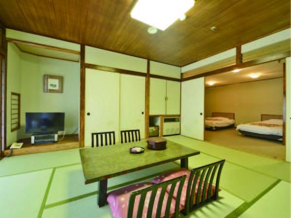 【和洋室/例】10畳にツインベッドを配したお部屋(全室禁煙)