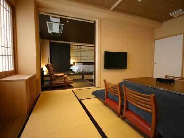別館和洋室(10畳和室+ツイン+檜風呂)
