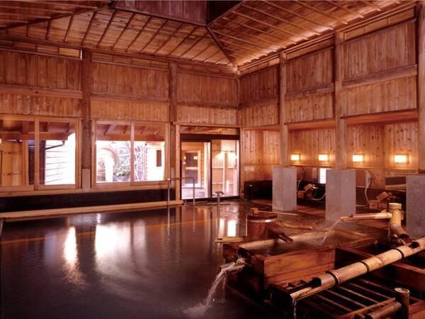 【大浴場/鷹の湯・月の湯】宮大工による伝統の湯屋建築造りの大浴場