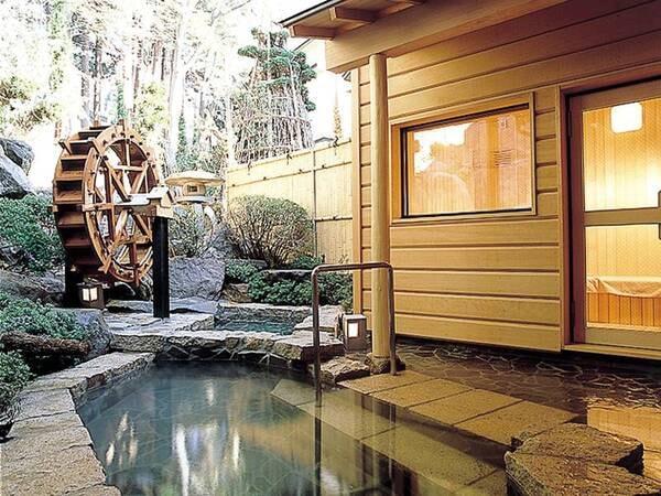 【大浴場隣接露天風呂】サウナと 天然の清水の水風呂もご用意