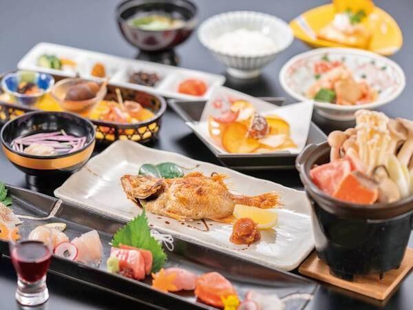 【贅沢会席/例】人気の豪華食材を多数取り入れた会席は月替りの内容でご用意