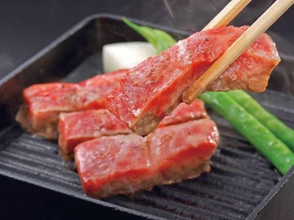 【夕食選択料理「和牛」一例】夕食は伊勢海老・鮑・和牛からお一人様につき1種お好きな調理法と共に選べる