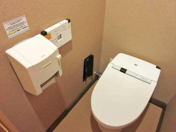 【客室トイレ/例】洗浄機能付きトイレ完備♪