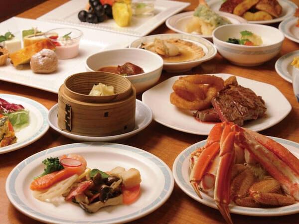 【蟹食べ放題バイキング/例】和洋中約50種類をご用意