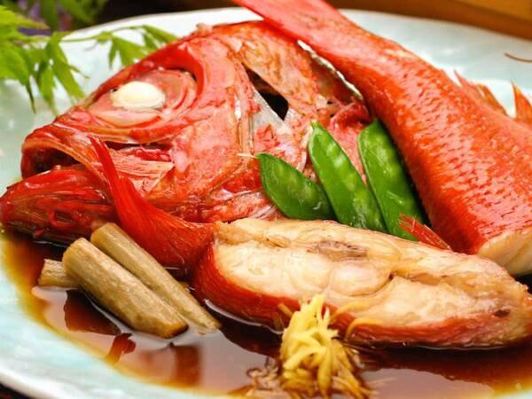 【夕食/例】金目鯛煮付