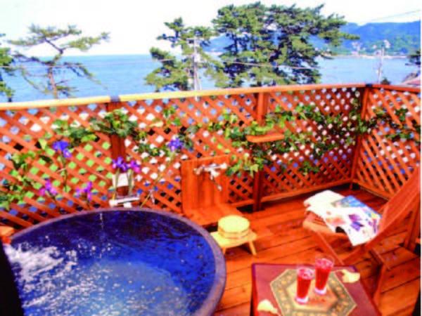 露天風呂付き洋室/客室露天風呂一例