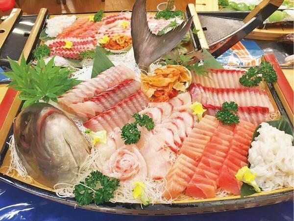【夕食/例】新鮮なお刺身を味わえる!