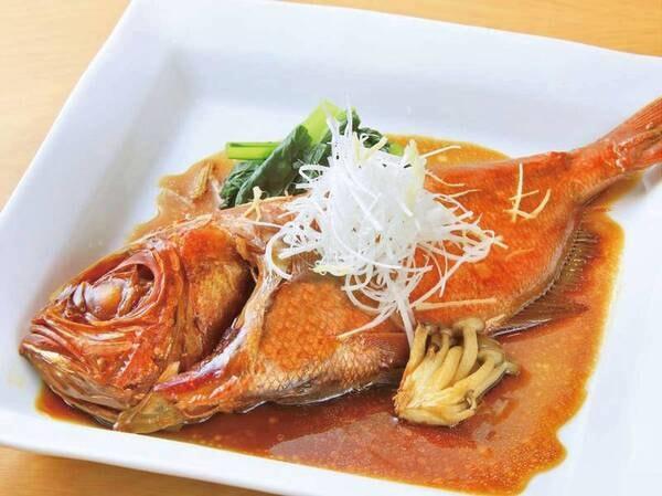 【金目鯛姿煮付き/例】通常の夕食メニューに、金目鯛姿煮が付いた特別プラン!