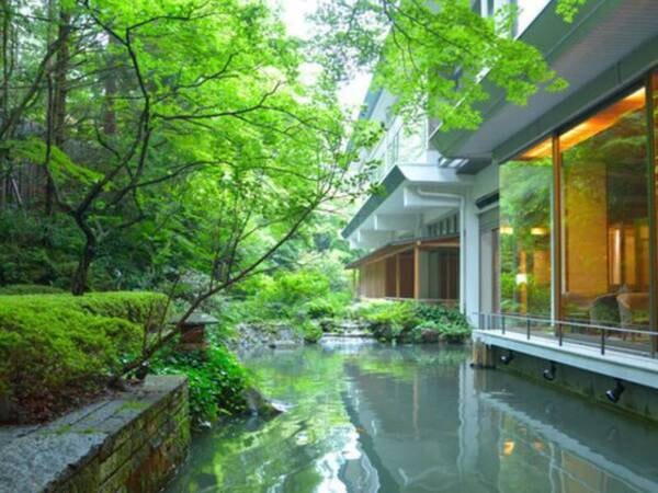 四季折々の表情を眺めることが出来る日本庭園