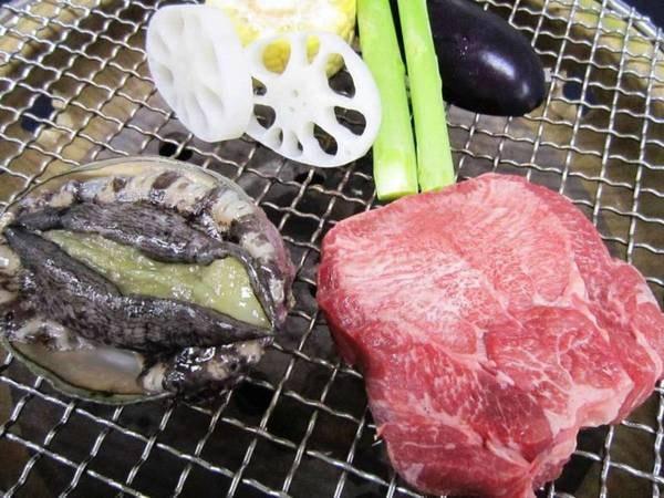 【料理長おまかせ和会席コースディナー】あわびと厚切り牛タンがメイン