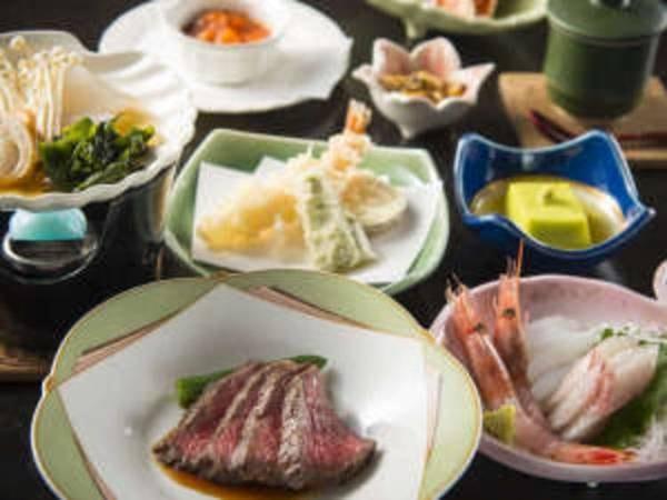 【料理一例】夕食は能登の里山里海の四季折々の食材を用いた和洋折衷料理