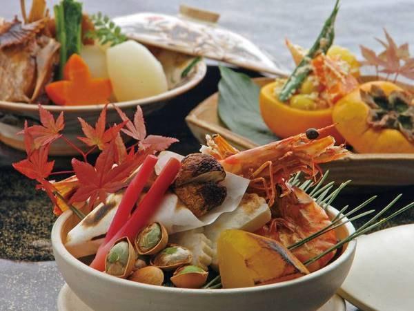 【夕食/例】彩り鮮やかな旬の素材を吟味した本格懐石料理