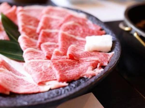 黒毛和牛しゃぶしゃぶ牛すき焼き食べ放題/一例