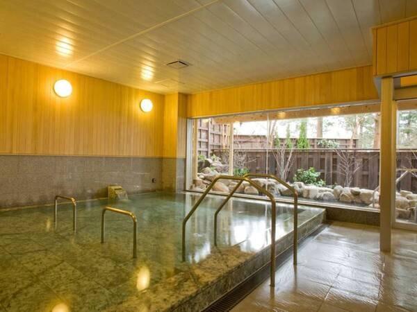 【大浴場/女湯】メタケイ酸が豊富な美肌の湯。サウナはミストサウナをご用意しております。