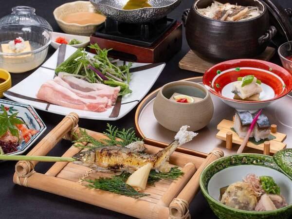 【箱根会席プラン/例】旬の食材や盛り付けにもこだわった和食会席をお楽しみください。