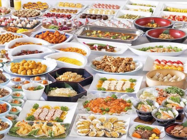 約30種類以上の和洋食やデザートを豊富にご用意しております/一例