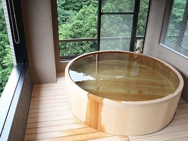 【半露天檜風呂スペシャルスイート禁煙 /例】いつでも何度でも入れるお部屋の檜風呂