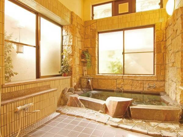 【石尊の湯(男湯)】大山の名水を沸かした湯を使用したお風呂