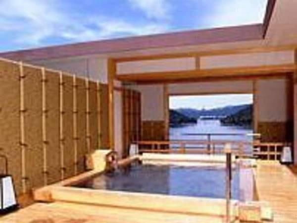 【ホテル鞠水亭】浜名湖を一望する展望露天風呂と貸切露天風呂風呂が人気の宿。