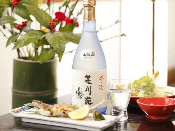 芝川苑の日本酒。地元のお酒・富士錦です(お酒は有料となります)